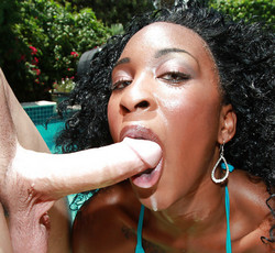 Disastrous african babe fucking at the..