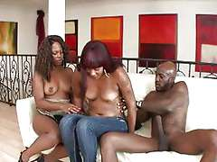 Mature ebony women banged by a monster cock
