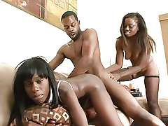 FFM threesome Black Monique in a threesome