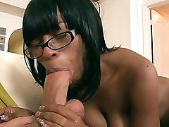 Nasty ebony neighbor Envy Star gets her pussy banged after amazing blowjob