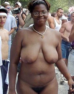 wide vagina black Naked woman fat in