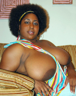 Swollen black pussy, naked African beauty