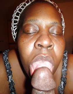 Freaky black mom suck husband's dick