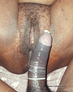 Hairy black pussy and long black dick..