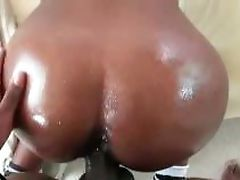 Choco tramp filled with cock and hard fucked