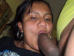 Black wife sucking fat cock in this..